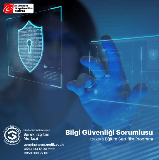 Bilgi güvenliği uzmanı, firmanın erişim ağını ve altyapı sistemini koruyan çalışmaları yürütür. Güvenlik ağında herhangi bir anormallik tespit edildiğinde anında müdahale edebilecek eğitimi ve deneyimi bulunur. Güvenlik sisteminin sürekli etkin kalmasını sağlarken, güncel yeniliklerin de entegre olmasına yardımcı olur.