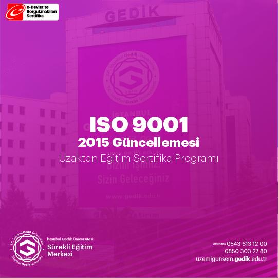 9001-2015 EĞİTİMİ KALİTE YÖNETİM SİSTEMLERİNDE YAPILAN REVİZYON