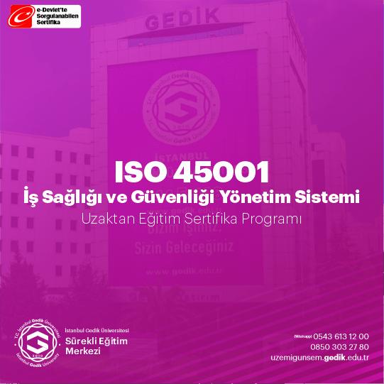 ISO 45001 standardı, iş sağlığı ve güvenliği ve çevre konularında, sadece bir kişinin sorumlu olmasına imkan vermektedir.