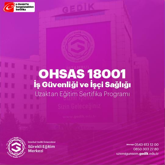 OHSAS 18001 (iş sağlığı ve güvenliği) belgesi Yönetim Sistemi; iş sağlığı ve güvenliği faaliyetlerinin kuruluşların genel stratejileri ile uyumlu olarak sistematik bir şekilde ele alınıp sürekli iyileştirme yaklaşımı çerçevesinde çözümlenmesi için bir araçtır.