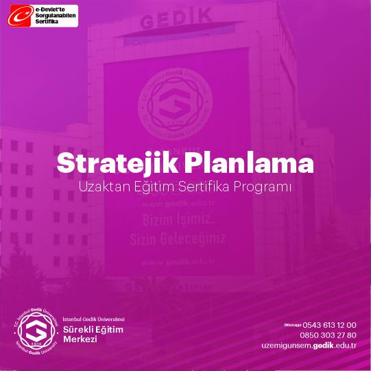 Özellikle 5018 Sayılı Kanunla kamu kurumları için bir zorunluluk haline gelen stratejik planlama ve stratejik yönetim konusunda DPUSEM, ihtiyaç duyan tüm kurum ve kuruluşlara, özgün ihtiyaçlarına yönelik uygulamalı stratejik planlama eğitimleri sunmaktadır.