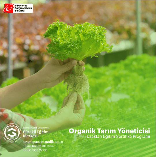 Organik Tarım Yöneticisi Sertifikalı Eğitim Programıiçeriği oldukça geniş olan bu program mesleki alandakatılımcıya bilgi, tecrübe ve kazanım sunması hedeflenerek hazırlanmıştır..