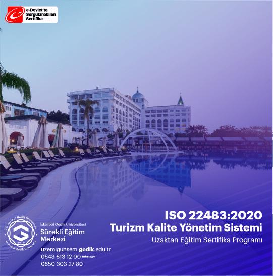ISO 22483 standardı, turizm alanında faaliyet gösteren otellere ve tüketicilere bilinçli kararlar vermek için kriterler sağlamak amacıyla, ilgili faaliyetler, kullanılan tesis ve ekipman gereksinimleri dahil olmak üzere turizm hizmet sağlayıcıları tarafından sunulan hizmetlerin terminolojisinin ve özelliklerinin standardizasyonudur.